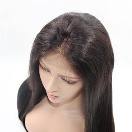 Elesis hair 150% Density Straight Full Lace Virgin Human Hair Wigs With Baby Hair For Black Women