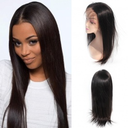 Elesis 100% virgin raw hair Straight human hair wig 13x6 Frontal Glueless wig long hairline free part can be bleached