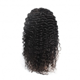Elesis Affordabe price Remy Human Hair wigs Deep wave curly 13x4 Transparent Lace frontal wig