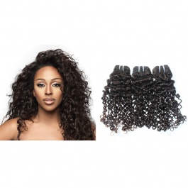 Elesis Virgin Hair Curly Human Hair Extensions Italy Curly 100g/pc 3 Bundles Full Weave Unprocessed Natural Color Top Gr