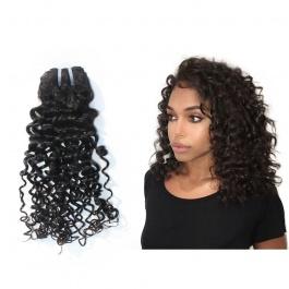 Elesis Virgin Hair Top Grade Single bundle Virgin Curly Hair Wave  Sexy Italy  Curly Human Hair Natural Black