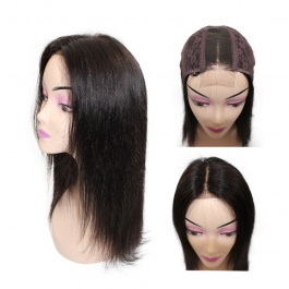 Elesis Virgin Hair customize wig  2x6 middle part closure wig unit long hairline natural color top grade virgin hair wig