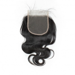 Elesis Virgin Grade Body Wave Hair Swiss Lace Closure 5x5 Free Part Unprocessed 100% Virgin Human Hair