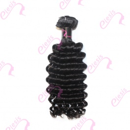 Virgin grade Elesis Virgin Hair Product Virgin grade 1 piece Deep Wave Human Virgin Hair Extensions