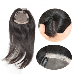 5x5 womens toupee hair pieces replacement monofilament net base with pu perimeter