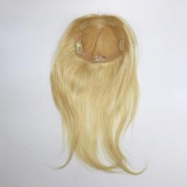 6X6 Size Russian blonde hair women's toupee replacement mono net base with PU