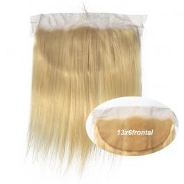 Elesis Virgin Hair New Frontal Blonde hair #613 13x6 Frontal Straight honey blonde Virgin Hair Top grade