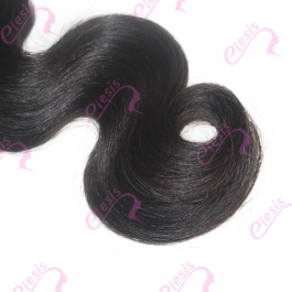 Virgin grade Elesis Virgin Hair Product 1 piece Body Wave Human Virgin Hair Extensions