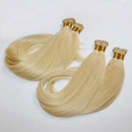 613 Blonde straight hair I-tip extensions 100grams