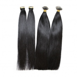 Natural black double drawn tape in remy hair extensions 20pcs