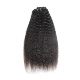 Elesis virgin hair clip in straight human hair 10pcs set 120grams