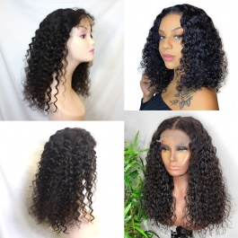 Elesis Virgin Hair custom wig unit 7x7 large lace parted space closure wig full density wig high grade virgin hair