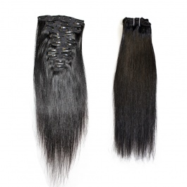 Elesis virgin hair 10pcs set 160grams Raw Hair clip in 100% human hair