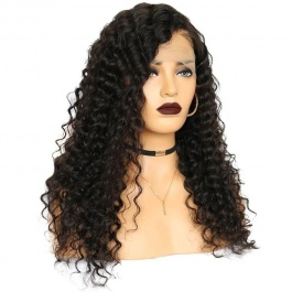 Brazilian Deep Wave Wet and Wavy Human Hair Wigs 150% Density For Women Brazilian Deep Wave Human Hair Lace Frontal Wig