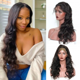 Elesis Virgin Hair lace frontal wig loose body wave preplucked natural hairline baby hair