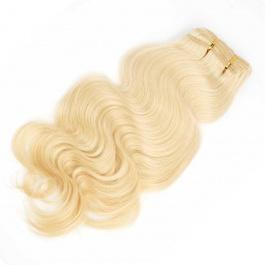 Elesis Virgin Hair Clip in hair extensions 613 Blonde virgin hair top grade human hair 7pieces set clip in 120 grams