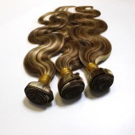 Elesis Highlight Body Wave Bundles Remy Brazilian Human Hair 3 Bundles P8/613 Highlight Hair Piano Color Hair Extensions