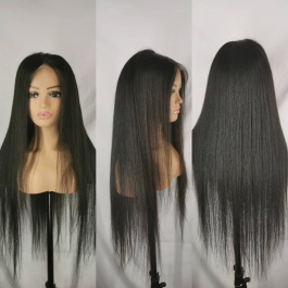 Elesis Virgin Hair customize wig 13x4 lace frontal wig